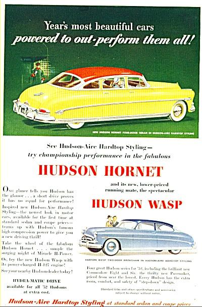 1952 - Hudson Hornet & Hudson Wasp autos (Image1)