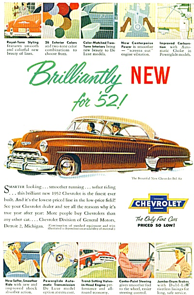 1952 - Chevrolet automobile for 1952 (Image1)