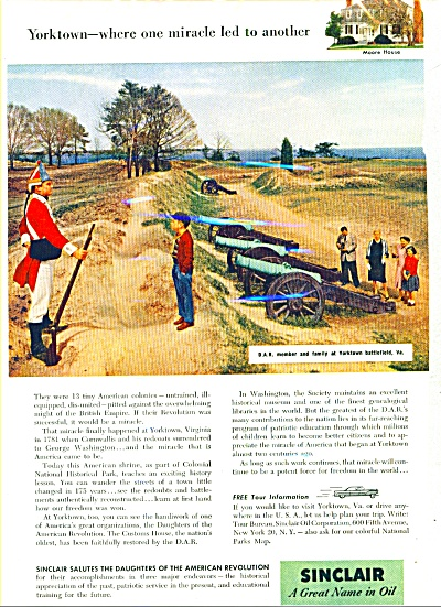1956 - Sinclair - A Great Name In Oil Ad