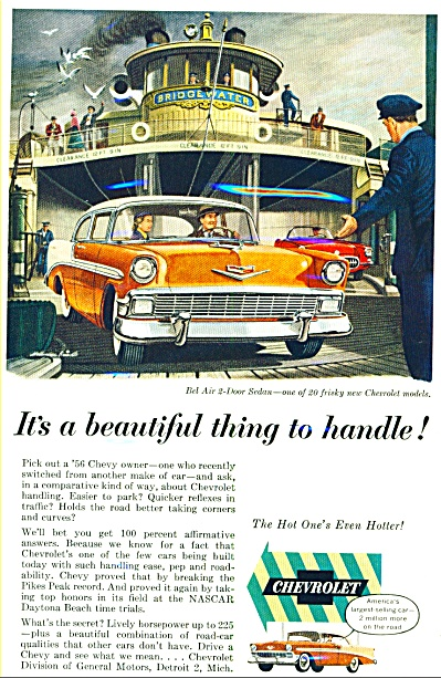 1956 - Chevrolet Bel air 2 door sedan ad (Image1)
