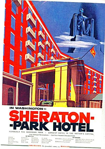 1954 - Sheraton Park Hotel -Washington D.C. (Image1)