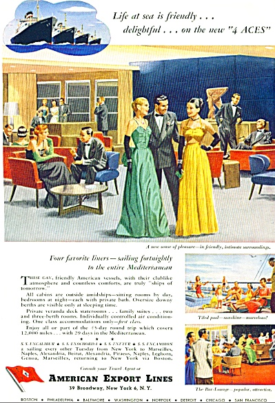 1949 - American Export Lines Ad