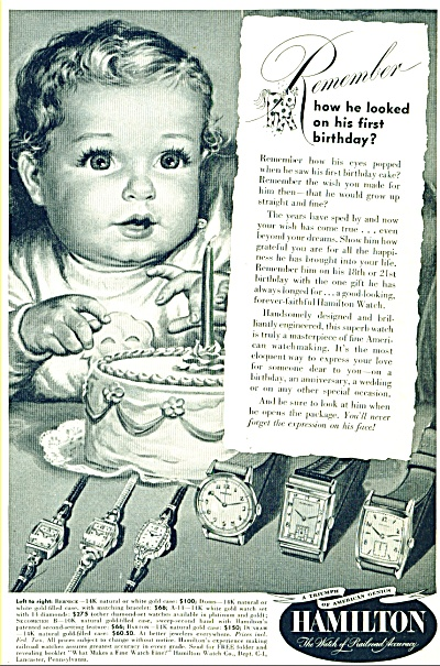 1949 - Hamilton watches ad (Image1)