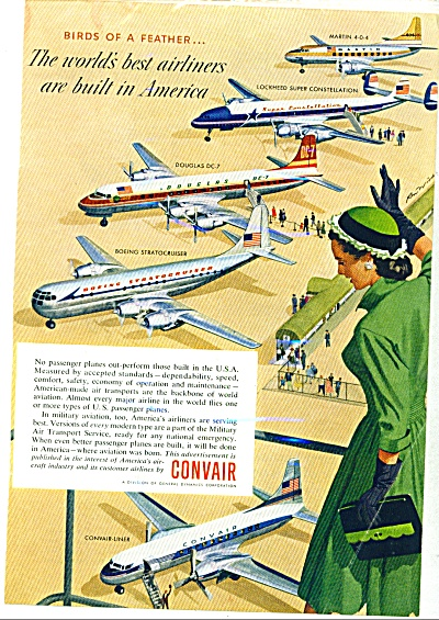 1954 - Convair Aircraft - Ad
