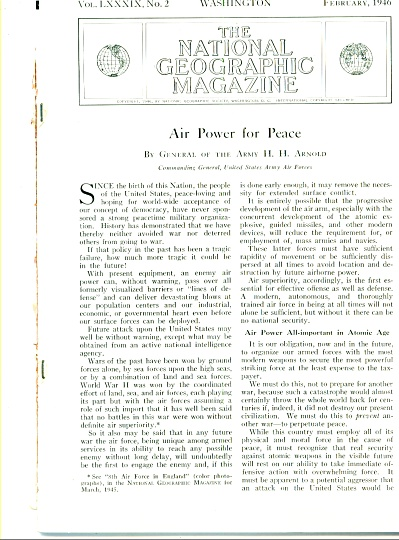 1946 -  Air power for peace - GENERAL ARNOLD (Image1)