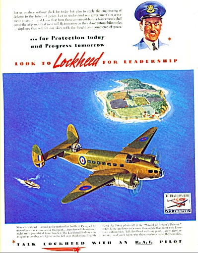 1941 - Lockheed Airplane Ad
