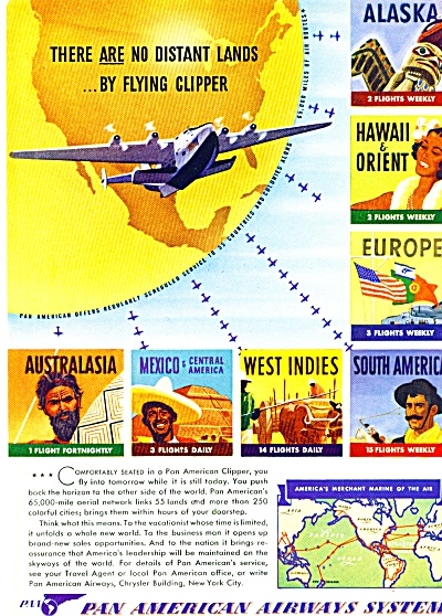 1941 - Pan American Airways System Ad