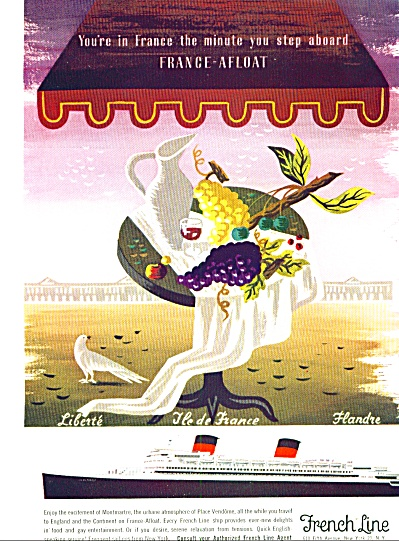 1954 - French Line Travel Ad