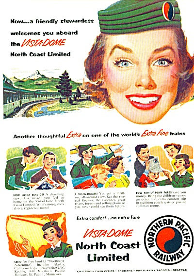 1955 - Northern Pacific railway ad (Image1)