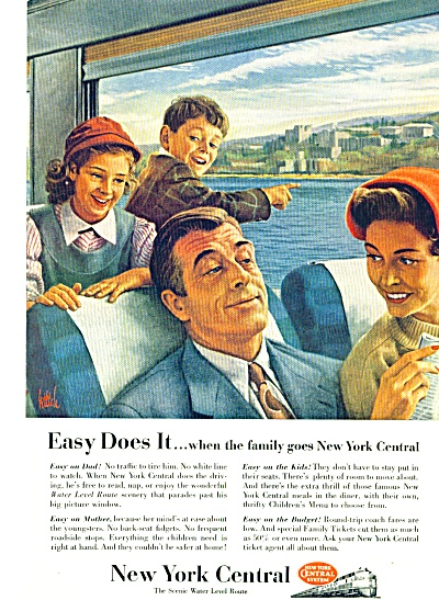 1954 - New York Central Railway Ad