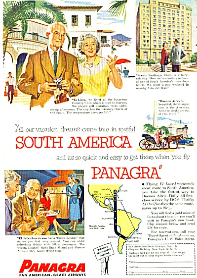 1954 - Panagra -pan American-grace Airways