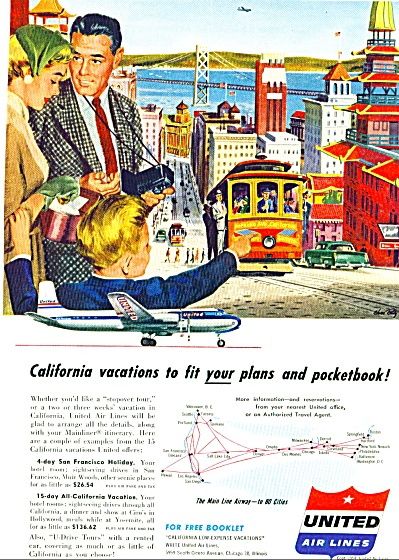 1954 - United Air lines ad (Image1)