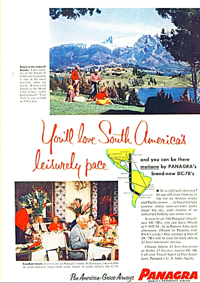 1955 - Panagra Airlines Ad