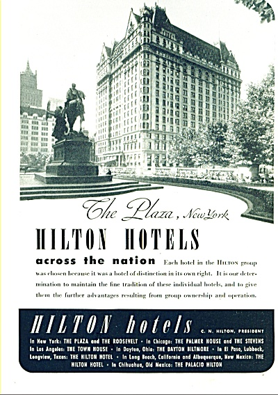 1946 - Hilton Hotels across the nation ad (Image1)