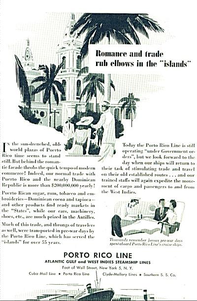 1946 -   Porto Rico Line - steamship lines ad (Image1)