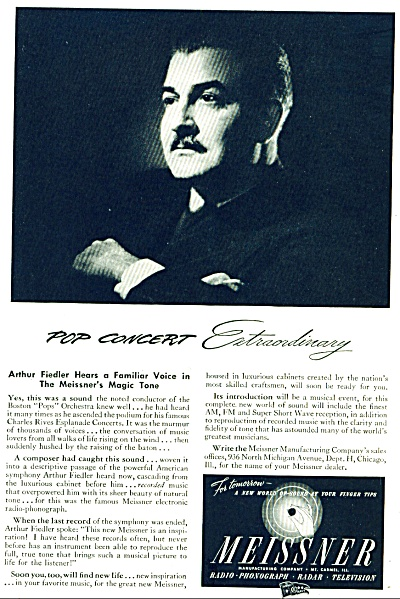 1946 - Meissner radio phonograph-ARTHUR FIEDL (Image1)