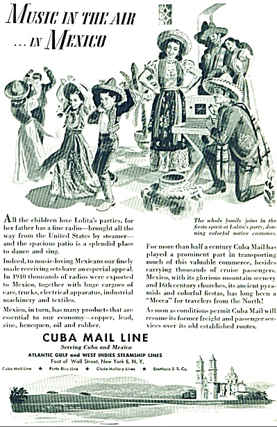 1946 - Cuba Mail Line - steamship lines ad (Image1)