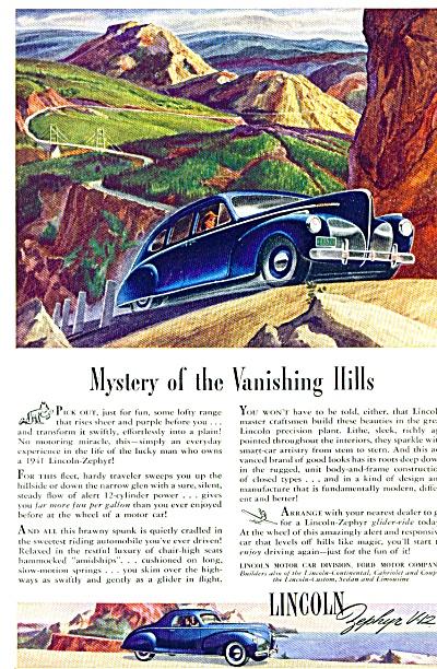 1941 -  Lincoln Zephyr V-12 ad (Image1)