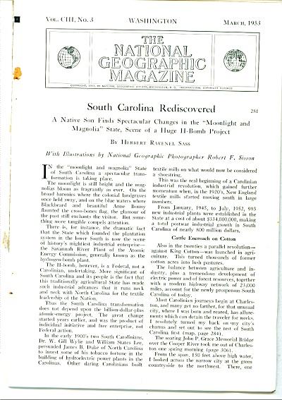 1953-  SOUTH CAROLINA  rediscovered story (Image1)