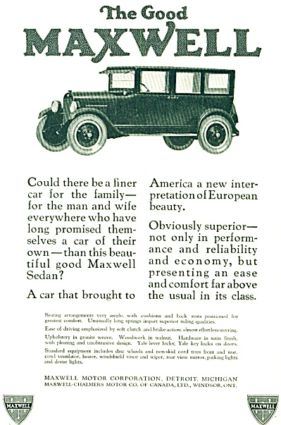 1924 -  The Good Maxwell automobile ad (Image1)