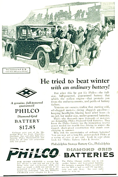 1924 -  Philco diamond grid batteries ad (Image1)