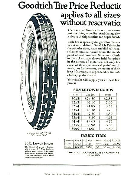1921 -  Goodrich tires ad (Image1)