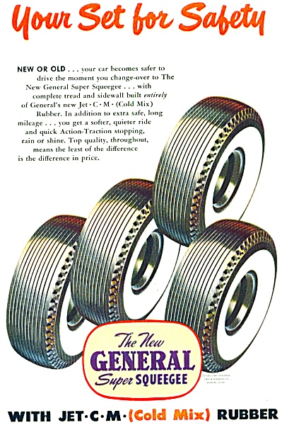 1949 - General Super Squeegee Tires Ad