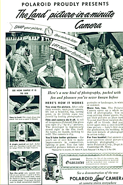 1949 - Polaroid land camera ad (Image1)