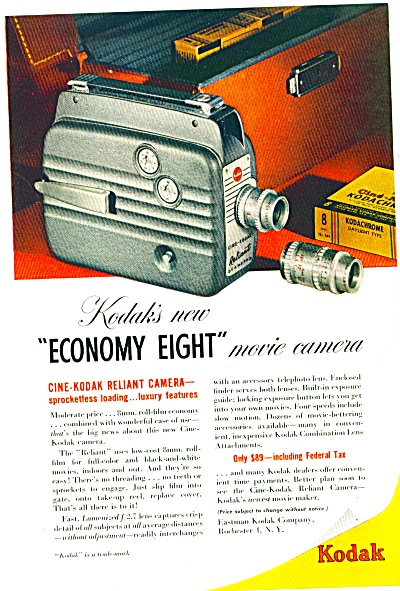 1949 -  Kodak movie camera ad (Image1)