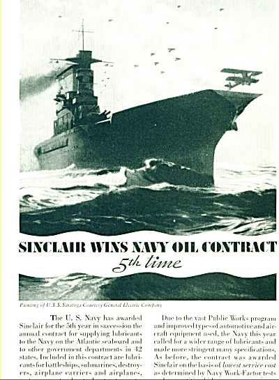 1935 - Sinclair Wins Navy Contract Ad