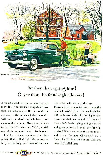 1955 -  Chevrolet automobile ad. (Image1)