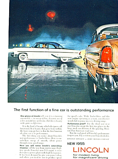 1955 - New 1955 Lincoln Auto Ad