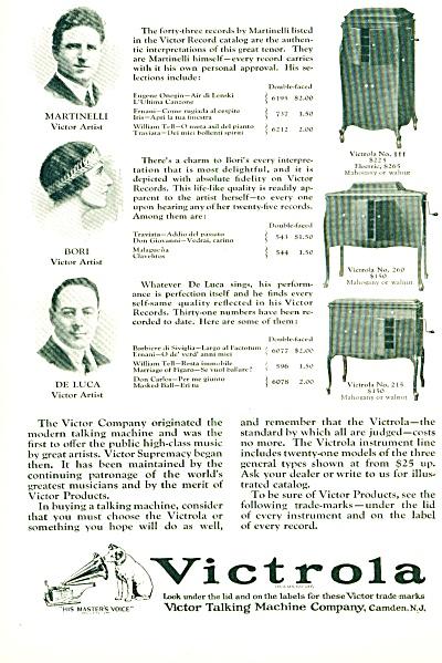 1924 - Victrola talking machine ad (Image1)