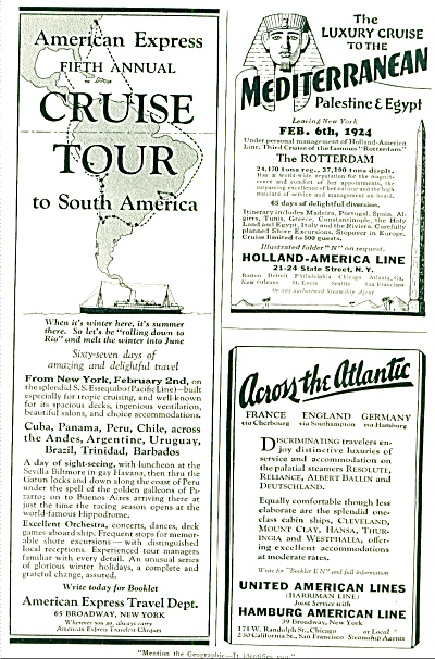 1924 - American travel companies ad (Image1)