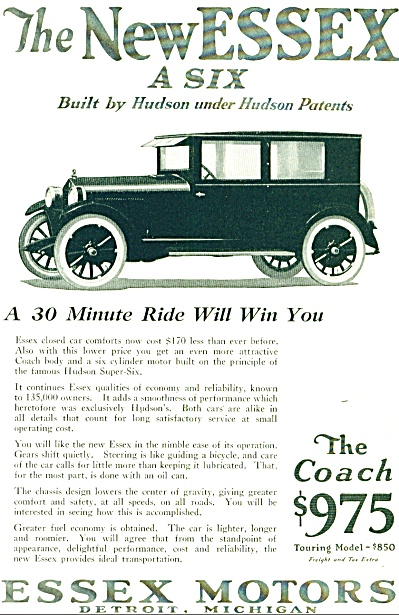 1924 -  Essex Motors automobile ad (Image1)