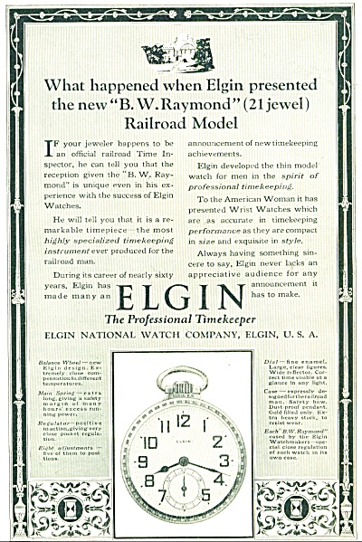 1924 - Elgin Watches Ad