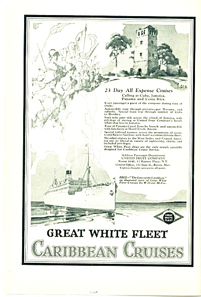 1924 - Great white fleet Caribbean cruises ad (Image1)