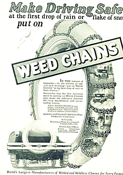 1924 -  Weed Chains for auto tires ad (Image1)