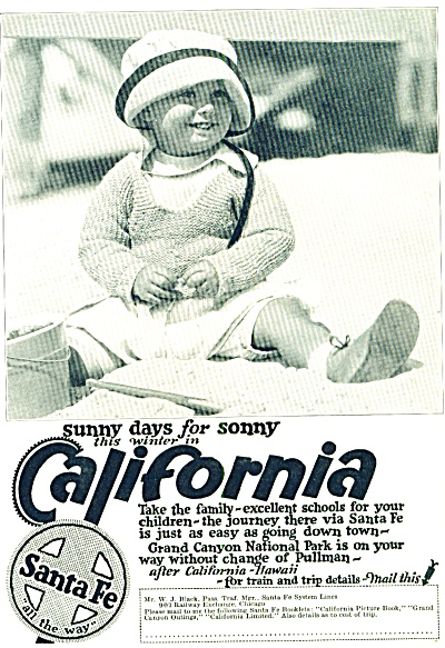 1924 - Santa Fe to California ad (Image1)