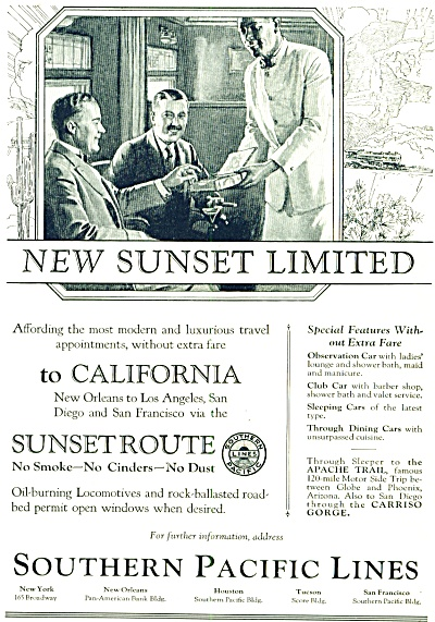 1924 - Southern Pacific Lines Ad