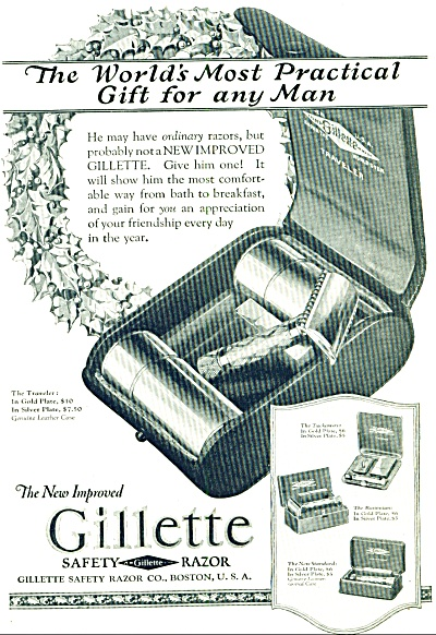 1924 - Gillette Safety Razor Ad