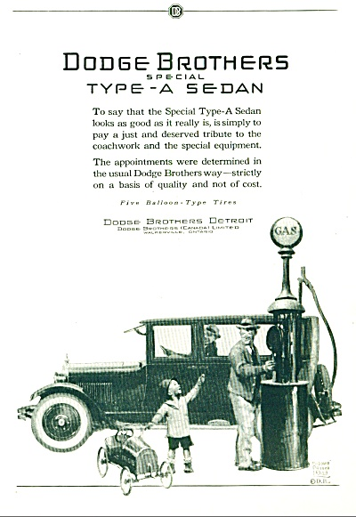 1924 - Dodge Brothers special type A Sedan ad (Image1)