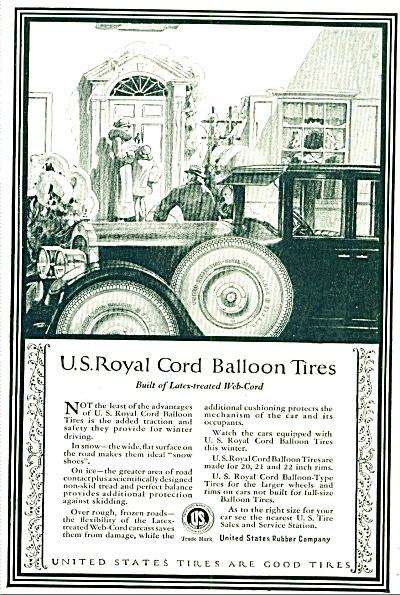 1924 - U. S.Royal Cord Balloon tires ad (Image1)