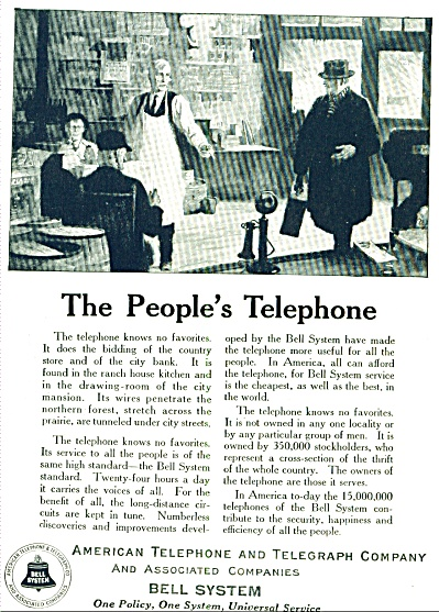 1924 - The People's Telephone - Bell System
