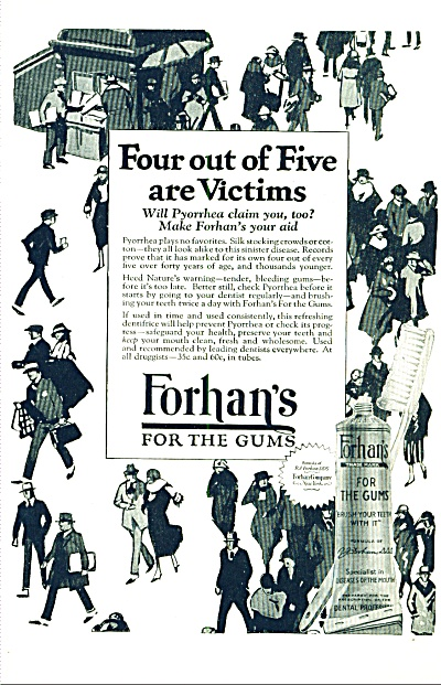 1924 - Forhan's for the gums ad (Image1)