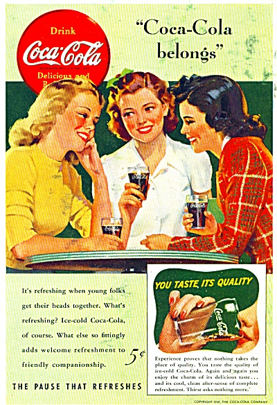 1941 - Coca - Cola Drink Ad