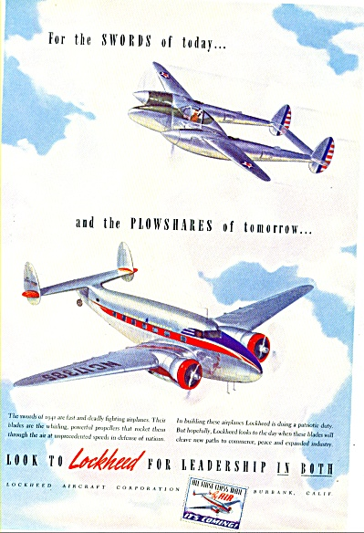 1941 - Lockheed Airplane Ad.