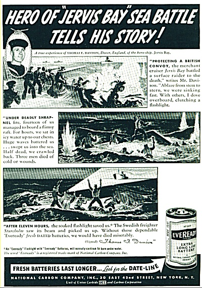 1941 - Eveready batteries ad (Image1)