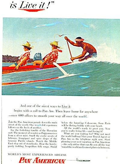 1956 - Pan American Airlines Ad