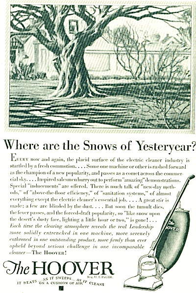 1949 -= The Hoover Vacuum Cleaner Ad